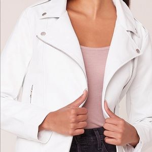 BB Dakota White Moto Jacket
